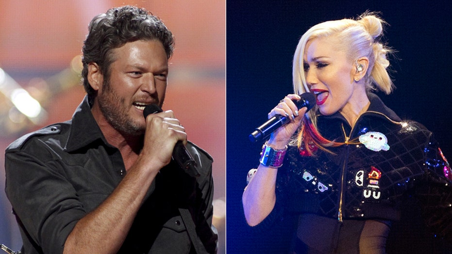 Blake Shelton and Gwen Stefani get flirty on 'The Voice'
