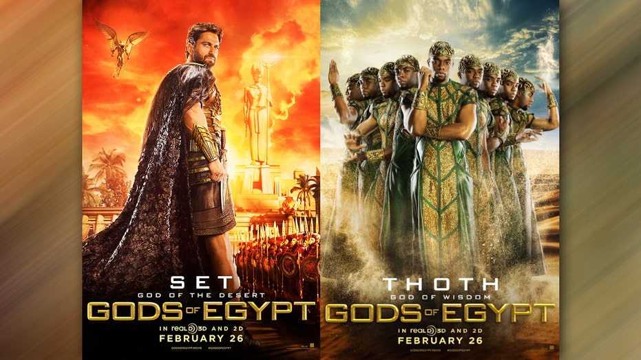 Gods of Egypt' posters cause online uproar over
