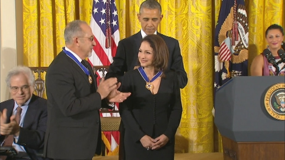 The Estefans receive the Presidential Medal of Freedom