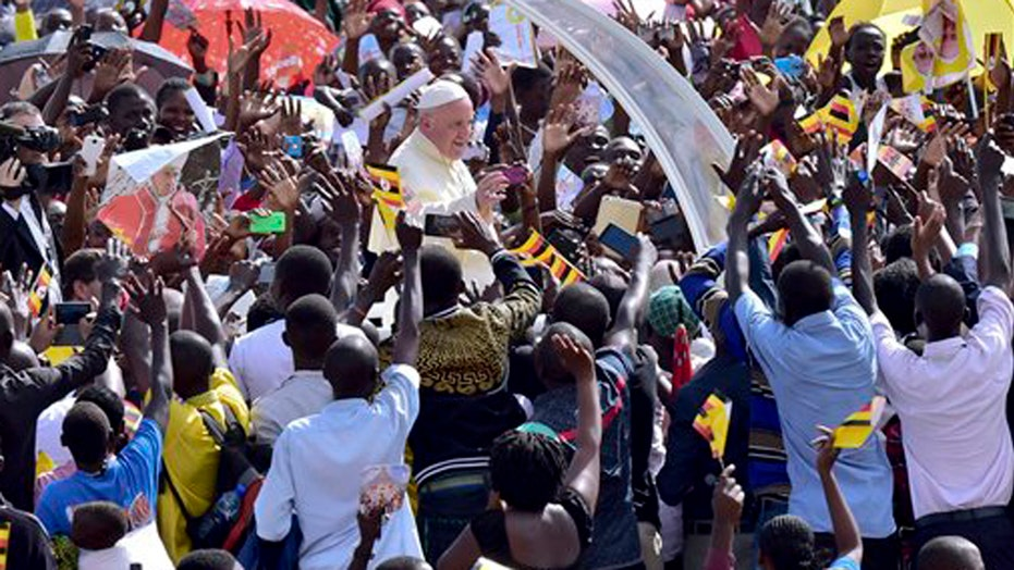 The Pope urged Ugandans to care for elderly and poor
