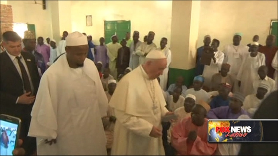 Pope brings message of peace to Africa