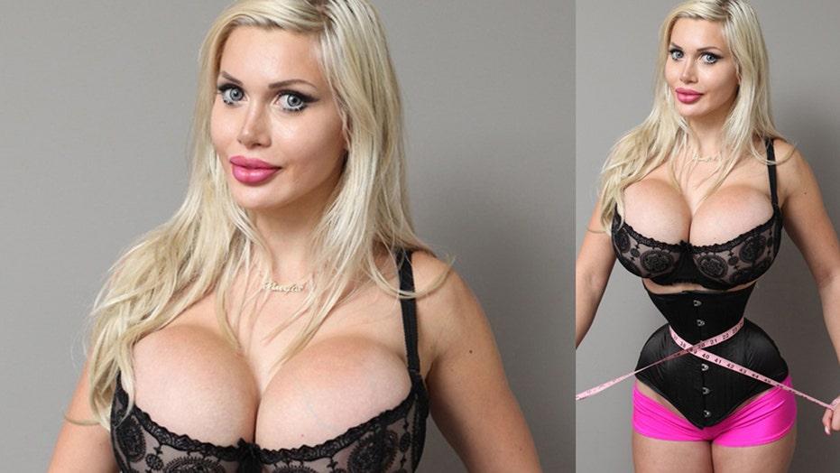 Model removes 6 ribs to look like cartoon character