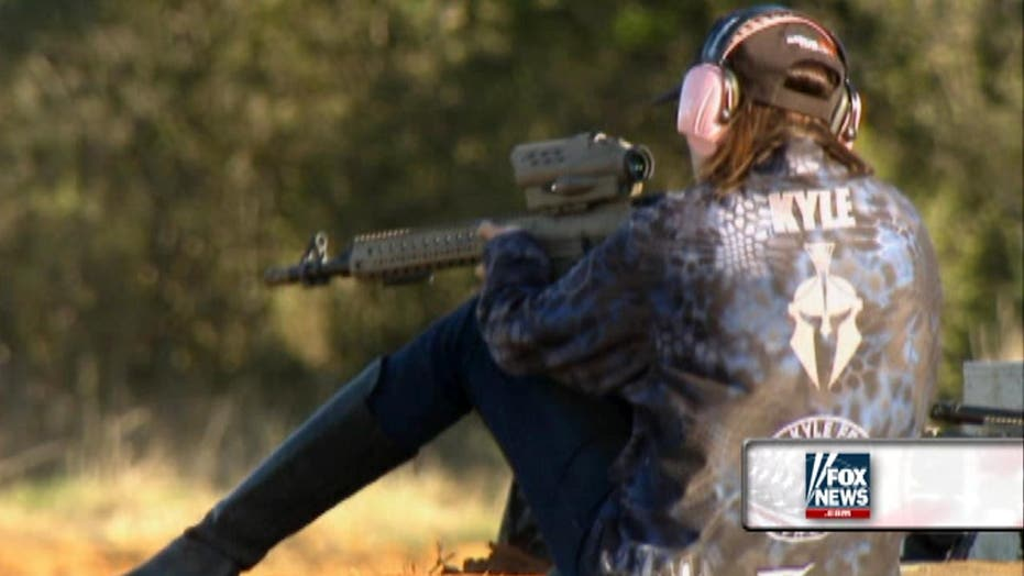 Taya Kyle takes aim to raise funds for military families