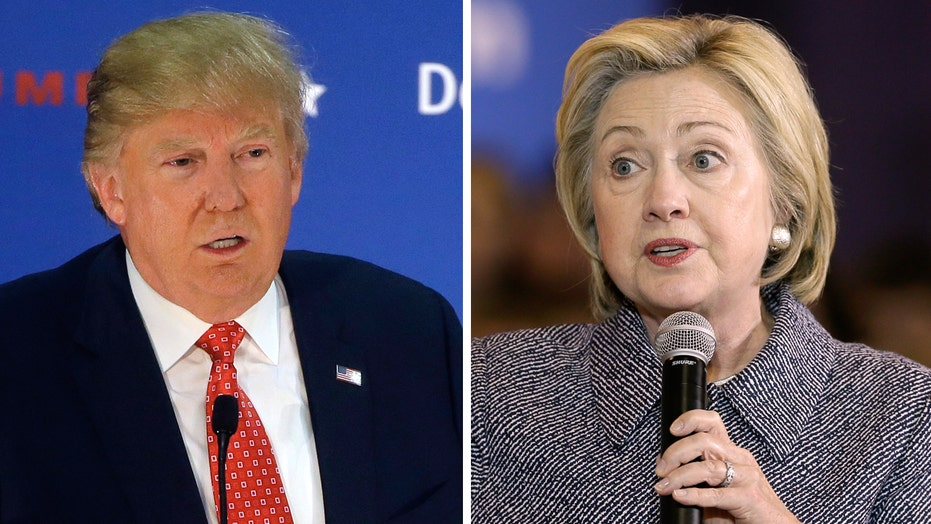 Trump/Clinton tied in hypothetical match-up, poll says