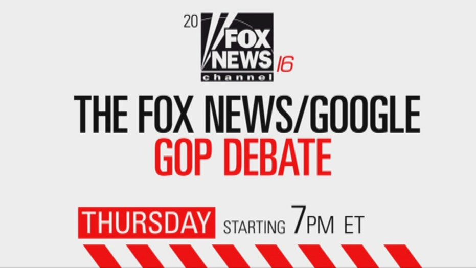 Don't miss the Fox News/Google GOP Debate!
