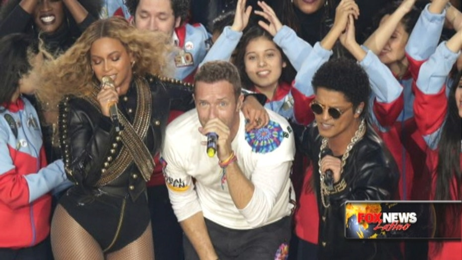 Super Bowl halftime: Bruno Mars, Beyonce, Chris Martin take the stage