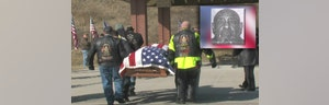 Some  people attend funeral for Vietnam veteran and Purple Heart recipient who died without a home or any close relatives in Kansas