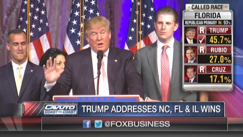 Super Tuesday II: Trump takes conciliatory tone