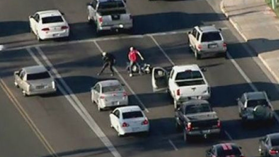 Suspect ditches truck, tries and fails to steal motorcycle