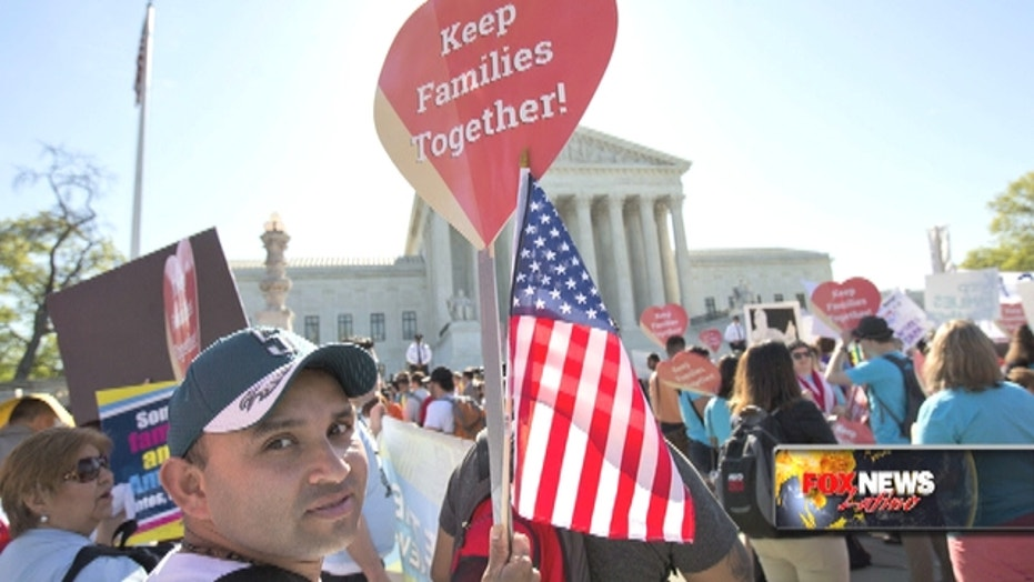 Justices hear dispute over Obama immigration action