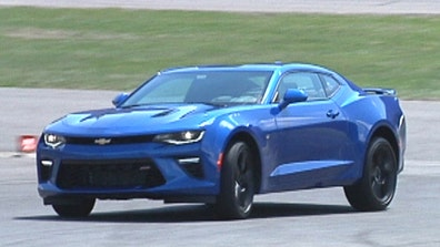 Gary Gastelu hits the track at Lime Rock Park in the  Chevrolet Camaro SS.