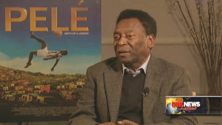 Soccer legend Pelé talks about movie of his life