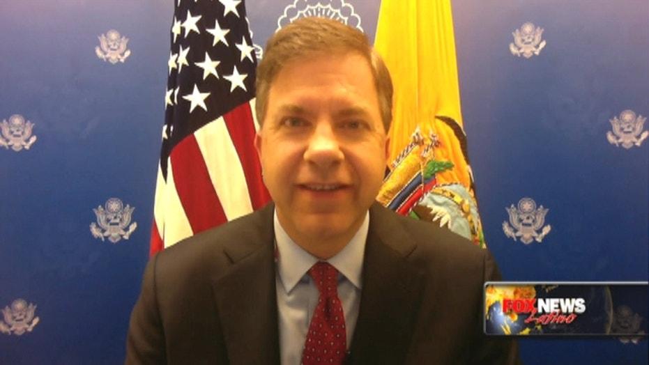 U.S. ambassador to Ecuador talks relief aid after quake