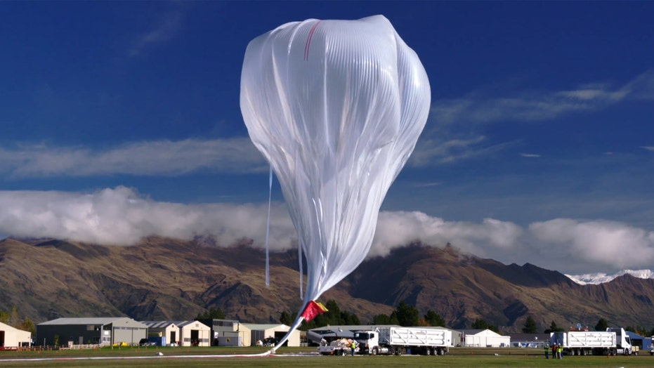 New footage of giant super-pressure weather balloon launch