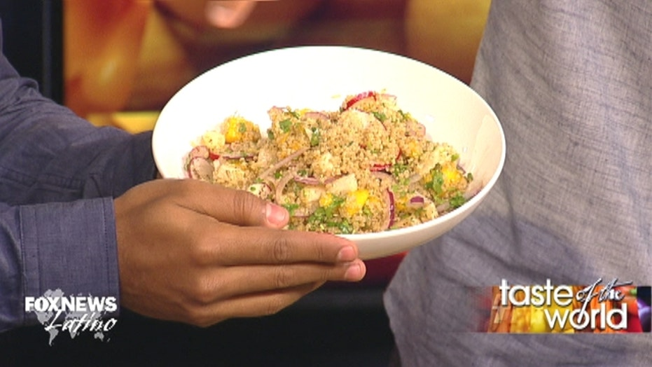 Chef Ronaldo's quinoa, mango and jicama salad