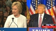 Hillary Clinton and Donald Trump claimed victories in the Golden State, setting up a general election battle between the former secretary of state and the real estate mogul.