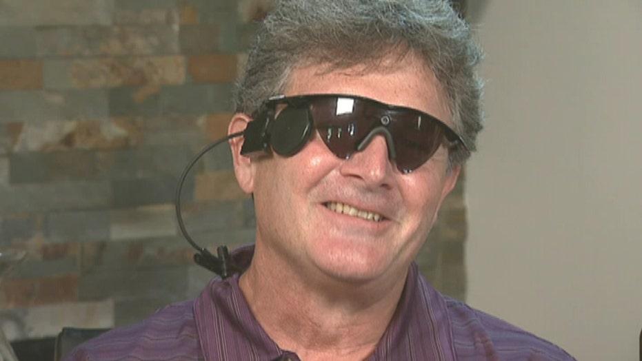 Blind man sees again