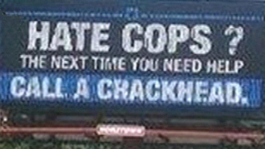 'Hate cops?' billboard causes uproar in Indiana