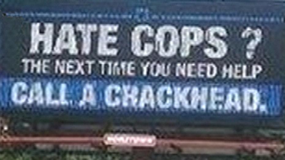 'Hate cops?' billboard causes uproar in Indiana