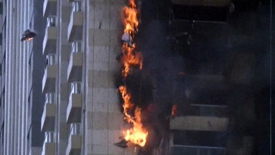 75-story skyscraper engulfed in flames in Dubai
