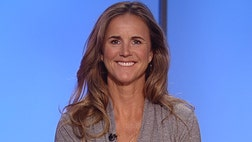 National Soccer Hall of Famer Brandi Chastain talks about developing a game plan to help her -year-old son fight Crohn's disease