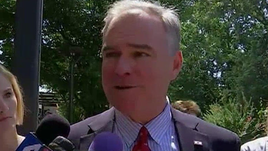 Tim Kaine's liberal credentials questioned