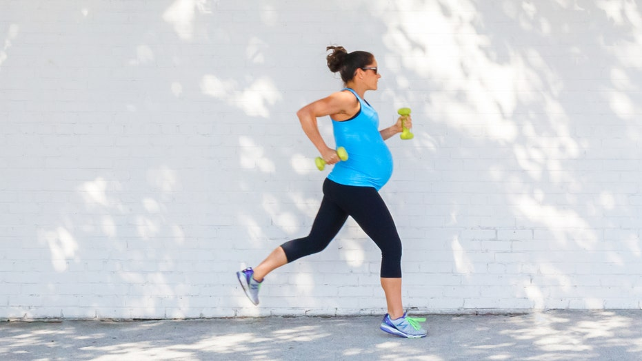 What's the target heart rate for pregnancy workouts?