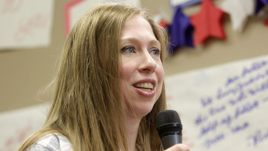 Chelsea skips daughter's first day of school for Hillary