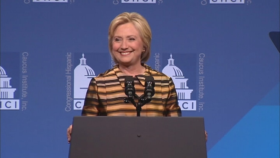 Clinton delivers remarks at CHCI gala