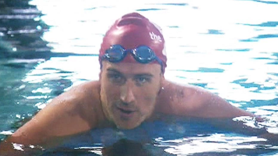 Ryan Lochte gets back in the pool