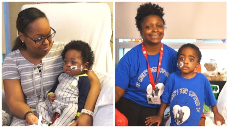 Mothers bond over double heart transplants