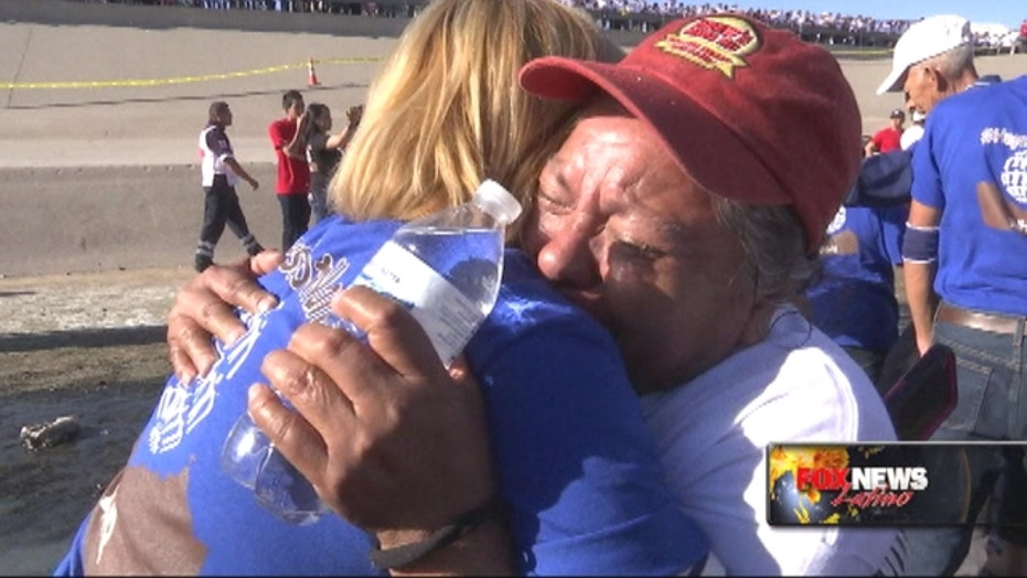 Hugs Not Walls: Families given 4 minutes to reunite