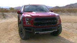 Gary Gastelu gets a first look at the  Ford F- Raptor in its natural habitat with Ford Performance chief engineer Jamal Hameedi.