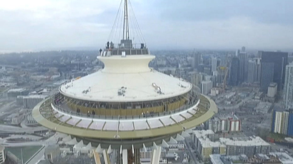 Watch drone slam into Seattle's Space Needle