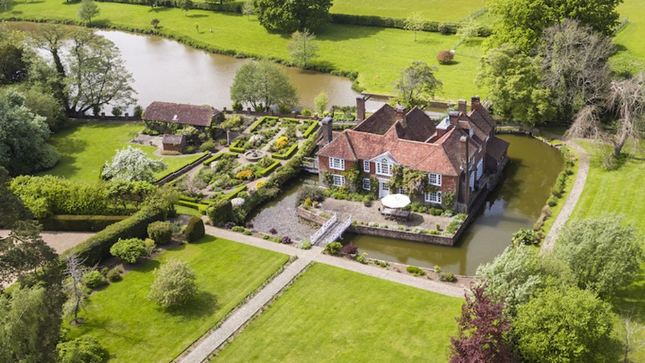 This English mansion has its own moat
