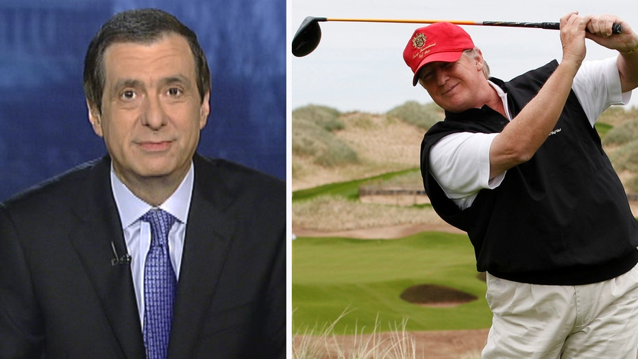 Kurtz: Press penalizes Trump over golf