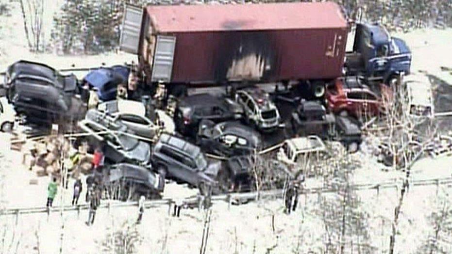 50-100 vehicles involved in crash
