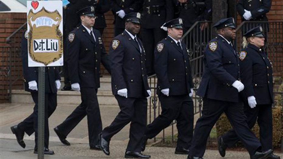 Wake for Officer Wenjian Liu held in Brooklyn