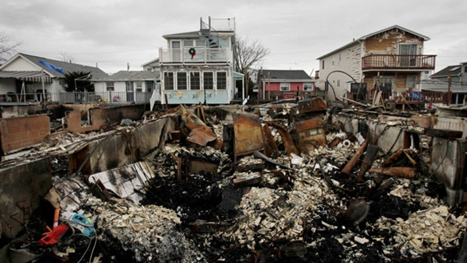 What was the hold up with the Sandy relief bill?