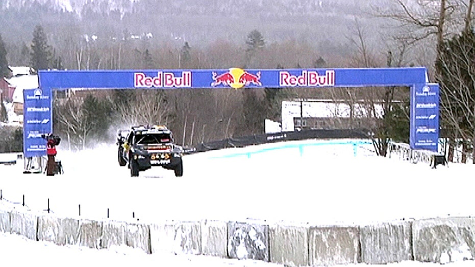 Off road trucks hit the snow