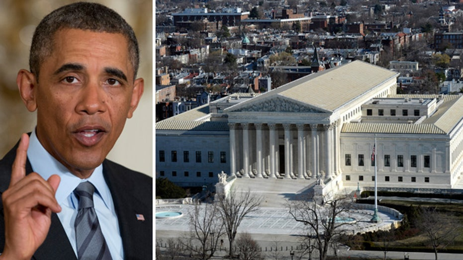 Supreme Court hears arguments on limits of executive power