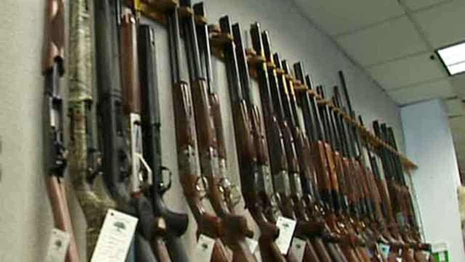 Guns flying off store shelves as control debate heats up