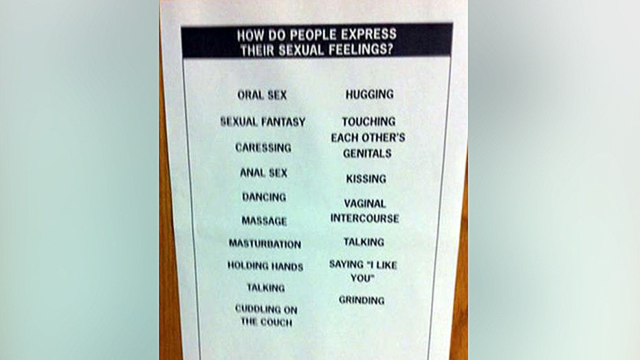 Sexually-explicit poster outrages middle school parents