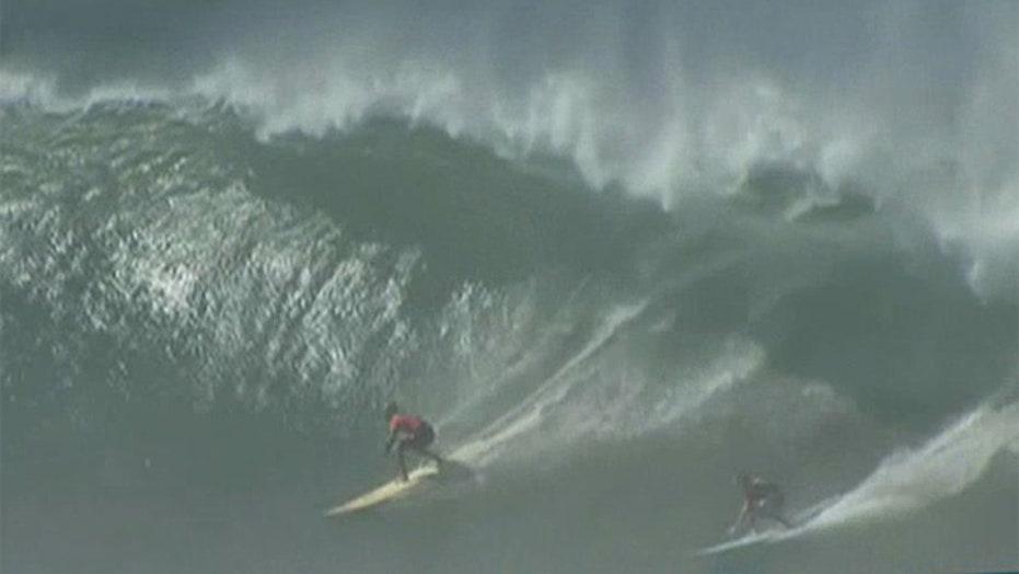 Surf's up: Epic waves crash into Hawaii's North Shore