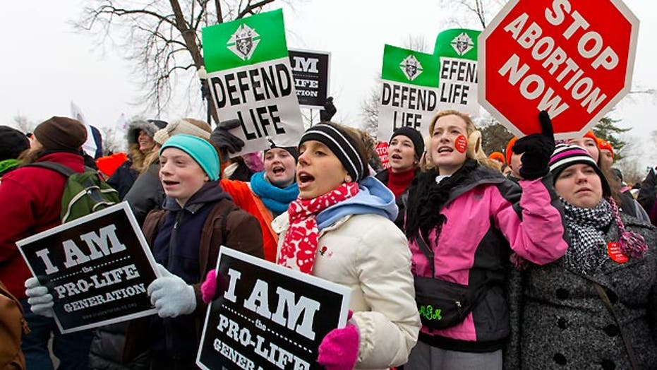 Pro-life advocates march in Washington