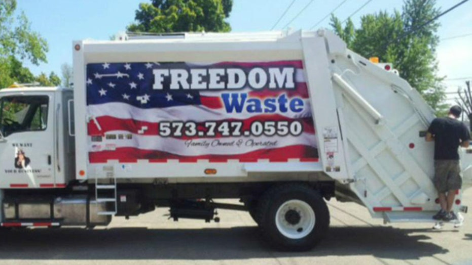 American flag painted on trash trucks causing controversy