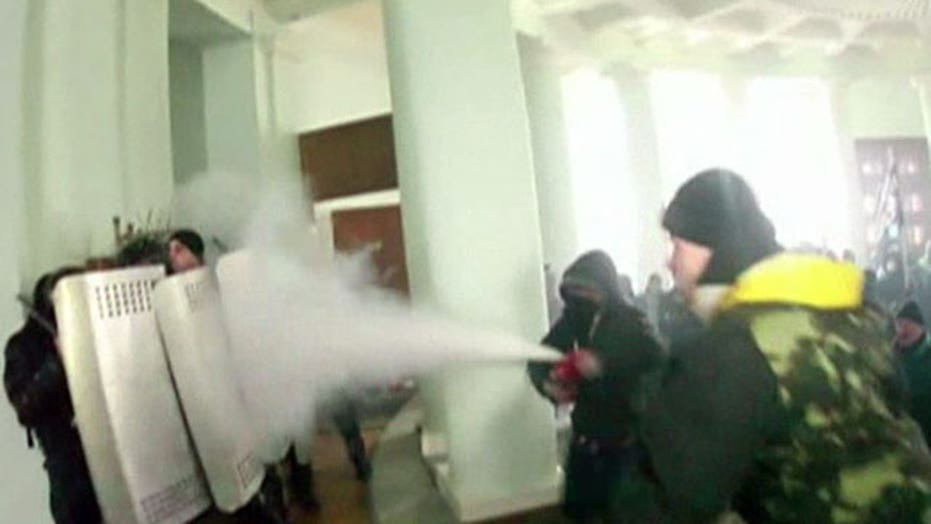 Protesters seize justice building in Ukraine