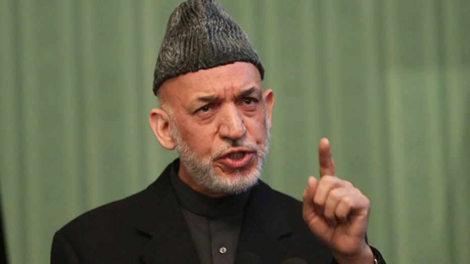 Report: Karzai blames US for Afghan terror attacks