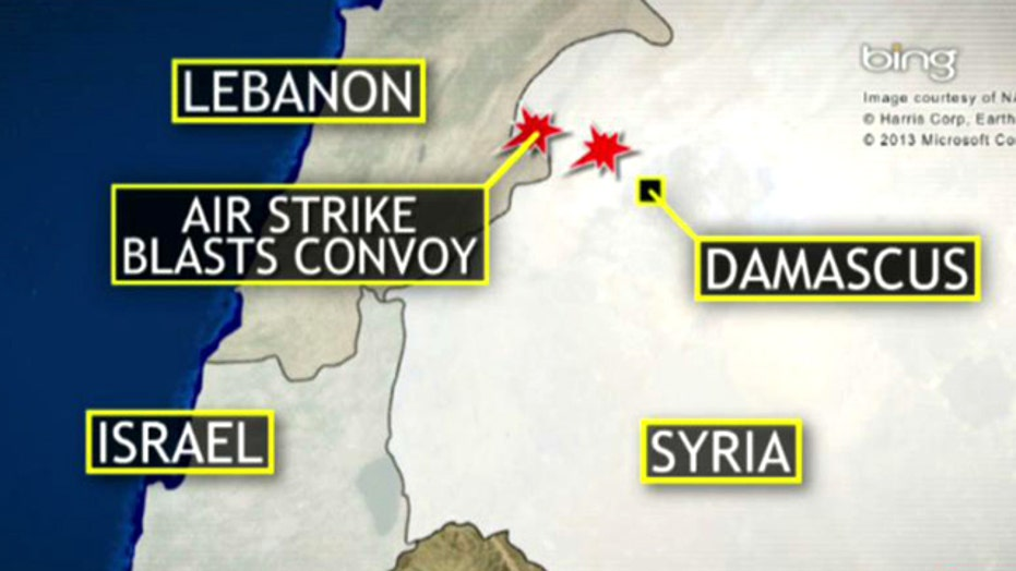 Israeli strike on convoy in Syria confirmed by US officials
