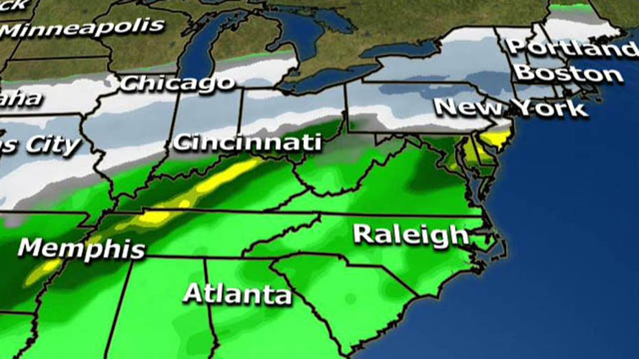 Winter storm pounding Northeast with heavy snow, rain